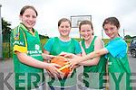 Basketball fun at  the Team Kerry Basketball camp in Causeway last week. .L-R Siobhan O'Hanlon, Clodagh O'Hara, Aoife Dillion and Anna Lyons.