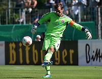 FUSSBALL  DFB POKAL        SAISON 2012/2013 SpVgg Unterchaching - 1. FC Koeln  18.08.2012 Torwart Stefan Riederer (Unterhaching)