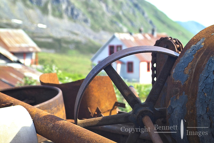 Old gears at Independence Mine State Historical Park, in the Hatcher Pass area about 50 miles north of Anchorage, Alaska.