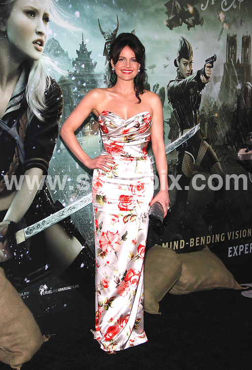 """**ALL ROUND PICTURES FROM SOLARPIX.COM**                                             **SYNDICATION RIGHTS FOR UK, AUSTRALIA, DENMARK, PORTUGAL, S. AFRICA, SPAIN & DUBAI  - Arrivals for the """"Sucker Punch"""" World Premiere at Grauman's Chinese Theater, Hollywood, CA, USA Photo Credit: David                                                                             This pic:    Carla Gugino                                                                                          JOB REF:    13017    PHZ Gabber     DATE:  24.03.11                                                           **MUST CREDIT SOLARPIX.COM OR DOUBLE FEE WILL BE CHARGED**                                                                      **MUST AGREE FEE BEFORE ONLINE USAGE**                               **CALL US ON: +34 952 811 768 or LOW RATE FROM UK 0844 617 7637**"""