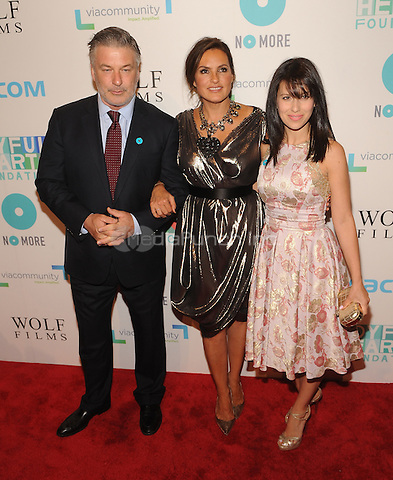 New York,NY-May 29: Alec Baldwin, Mariska Hargitay, and Hilaria Baldwin Attends Mariska Hargitayís Joyful Heart Foundation 10th anniversary  in New York City on May 29, 2014. Credit: John Palmer/MediaPunch