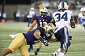 SEATTLE, WA - September 29:  Washington's Amandre Williams against BYU during the football game between the Washington Huskies and the BYU Cougars on September 29, 2018 at Husky Stadium in Seattle, WA. Washington won 27-20 over BYU.