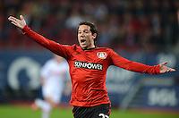 FUSSBALL   1. BUNDESLIGA  SAISON 2012/2013   5. Spieltag FC Augsburg - Bayer 04 Leverkusen           26.09.2012 Gonzalo Castro (Bayer 04 Leverkusen)