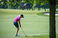 Maude-Aimee Leblanc (CAN) hits her approach shot on 2 during round 3 of the 2018 KPMG Women's PGA Championship, Kemper Lakes Golf Club, at Kildeer, Illinois, USA. 6/30/2018.<br /> Picture: Golffile | Ken Murray<br /> <br /> All photo usage must carry mandatory copyright credit (&copy; Golffile | Ken Murray)