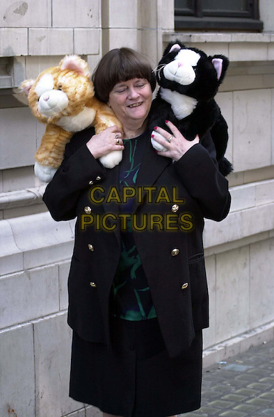 "ANN WIDDECOMBE M.P..'Cats Add Life"" Launch.Ref: 2063.toy cats, anne widdecombe, half length, half length, stuffed toys.www.capitalpictures.com.sales@capitalpictures.com.© Capital Pictures"