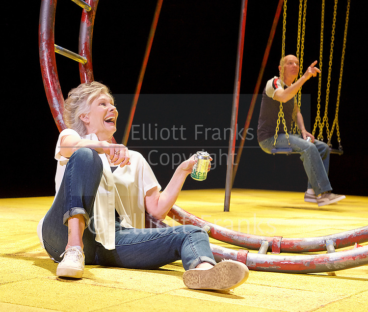 Seventeen <br /> by Matthew Whittet <br /> at The Lyric Hammersmith Theatre, London, Great Britain <br /> Press photocall <br /> 10th March 2017 <br /> <br /> Diana Hardcastle as Jess <br /> <br /> <br /> Roger Sloman as Tom <br /> <br /> <br /> <br /> <br /> <br /> Photograph by Elliott Franks <br /> Image licensed to Elliott Franks Photography Services