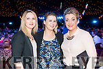 Trisha Leary, Mary McCarthy and Katie Brosnan, Tralee, pictured at the Austin Stacks Strictly Come Dancing held in the Dome, Tralee on Saturday night