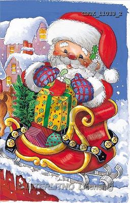 Stephen, CHRISTMAS SANTA, SNOWMAN, paintings, santa, gift, house(GBUK11033/2,#X#) Weihnachtsmänner, Schneemänner, Weihnachen, Papá Noel, muñecos de nieve, Navidad, illustrations, pinturas
