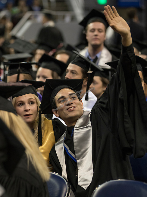 A photograph taken during the University of Nevada, Reno afternoon Winter Commencement Ceremony at Lawlor Events Center in Reno, Saturday, Dec. 9, 2017.