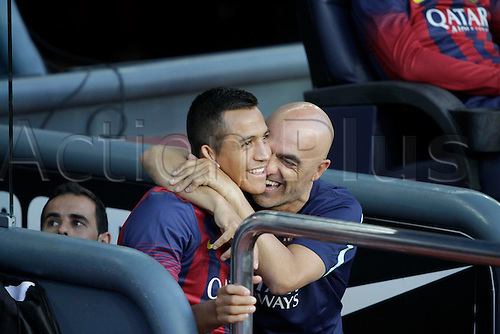 02.08.2013 Barcelona, Spain. Joan Gamper Trophee. Picture shows Alexis Sanchez in action during game between FC Barcelona against Santos at Camp Nou