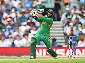 June 18th 2017, The Kia Oval, London, England;  ICC Champions Trophy Cricket Final; India versus Pakistan; Imad Wasim of Pakistan hits out for 4