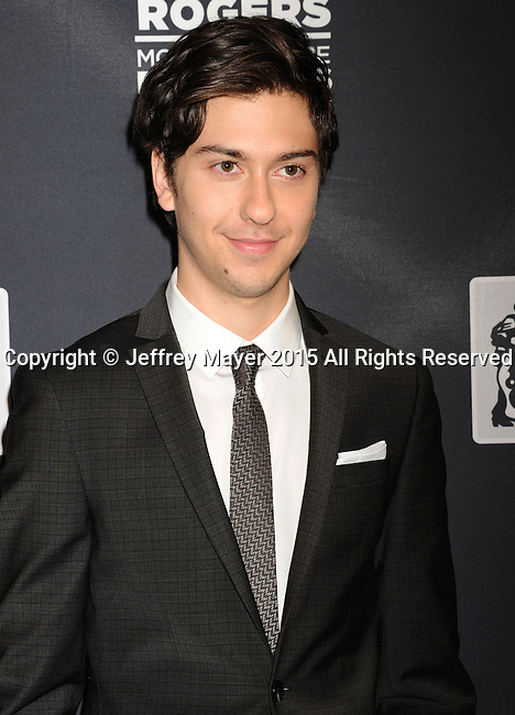 LAS VEGAS, NV - April 22: Actor/musician Nat Wolff attends the Pioneer Dinner during 2015 CinemaCon at Caesars Palace on April 22, 2015 in Las Vegas, Nevada.