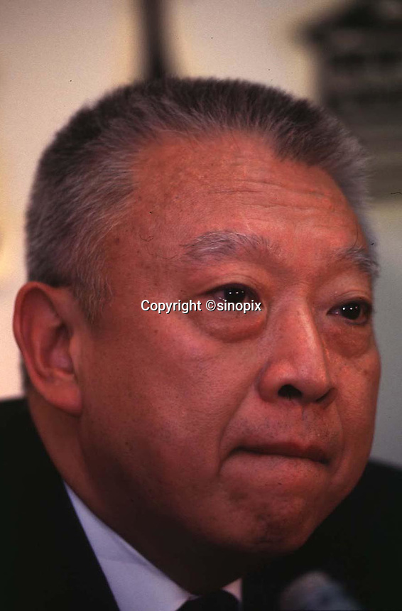 290897: HONG KONG: TUNG CHEE HWA<br /> <br /> TUNG CHEE HWA DURING A PRESS CONFERENCE IN HONG KONG.<br /> <br /> PHTO BY RICHARD JONES / SINOPIX