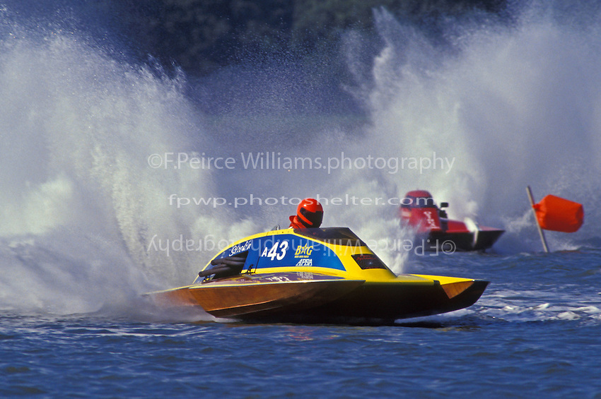 A-43 and George Kennedy, A-25 (2.5 MOD class hydroplane(s) Portsmouth, VA 1993