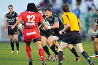 David Wilson of Bath Rugby in possession. European Rugby Champions Cup match, between RC Toulon and Bath Rugby on January 10, 2016 at the Stade Mayol in Toulon, France. Photo by: Patrick Khachfe / Onside Images
