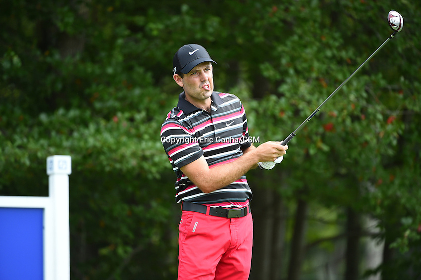 August 29, 2014 -  Norton, Mass. - Charl Schwartzel reacts to his drive from the 4th tee box during the first round of the PGA Deutsche Bank Championship held at the Tournament Players Club in Norton Massachusetts. Eric Canha/CSM