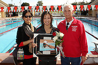 STANFORD, CA - FEBRUARY 13:  Charlotte Naylor of the Stanford Cardinal on Senior Day during Stanford's 167-131 win over California at the Avery Aquatic Center on February 13, 2010 in Stanford, California.