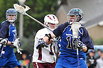 Los Angeles, CA 02/18/11 - John Gilbreath (LMU #14) and Patrick Matheson (BYU #18) in action during the Loyola Marymount - BYU game at LMU.