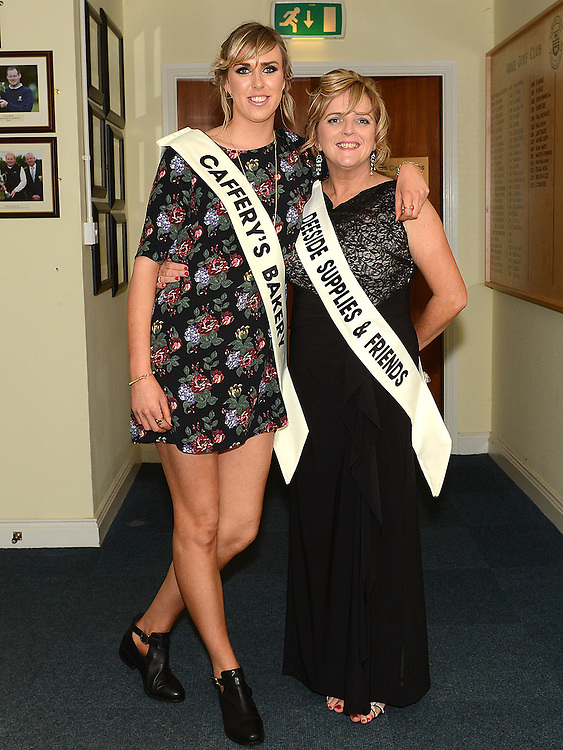 Leah Gallagher and Allison Gough pictured at the launch of Strictly Come Dancing in Ardee Golf Club. Photo:Colin Bell/pressphotos.ie