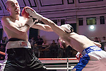 Sohail Ahmad vs Silvije Kebet 8x3 Lightweight contest During Goodwin Boxing: Christmas Carnage. Photo by: Simon Downing.<br /> <br /> Saturday 3rd December 2016 - York Hall, Bethnal Green, London, United Kingdom.