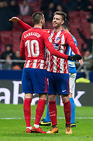 Atletico de Madrid Yannick Carrasco and Sergi Gonzalez celebrating a goal during King's Cup match between Atletico de Madrid and Lleida Esportiu at Wanda Metropolitano in Madrid, Spain. January 09, 2018. (ALTERPHOTOS/Borja B.Hojas) /NortePhoto.com NORTEPHOTOMEXICO