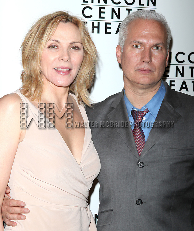 Kim Cattrall & Date.attending the Opening Night After Party for 'War Horse' in New York City.