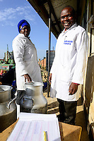 KENYA, County Bungoma, village Tongaren, NADAFA Naitiri Dairy Farmers Co-op Society Ltd., / KENIA, NADAFA Molkerei, Manager Timothy S. Kakai