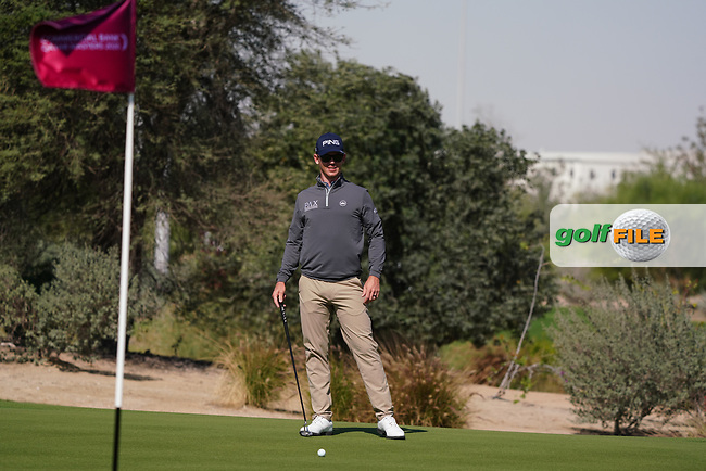 Brandon Stone (RSA) on the 1st during the Pro-Am of the Commercial Bank Qatar Masters 2020 at the Education City Golf Club, Doha, Qatar . 04/03/2020<br /> Picture: Golffile | Thos Caffrey<br /> <br /> <br /> All photo usage must carry mandatory copyright credit (© Golffile | Thos Caffrey)