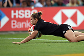 27th January 2019, Hamilton, New Zealand; New Zealand's Michaela Blyde scores a try during Day 2 of the Womens's Fast Four Tournament 2019, FMG Stadium Waikato,Hamilton