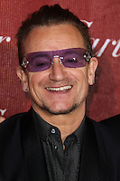 PALM SPRINGS, CA - JANUARY 04: Bono, Paul David Hewson of U2 arriving at the 25th Annual Palm Springs International Film Festival Awards Gala held at Palm Springs Convention Center on January 4, 2014 in Palm Springs, California. (Photo by Xavier Collin/Celebrity Monitor)