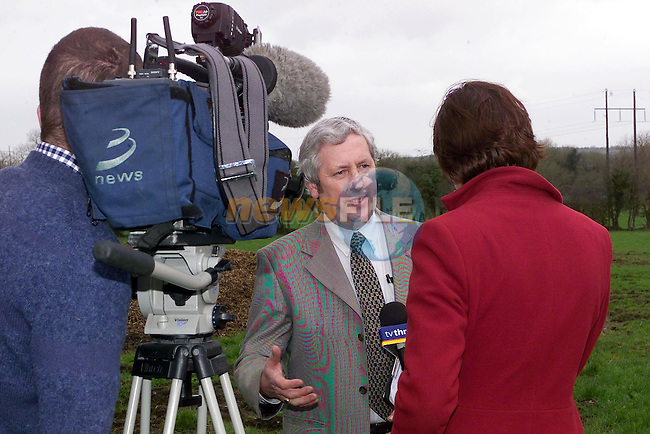 Pat O'Brien talking to TV3 news at the Carrinstown site where the new incinerator is to be built..Picture Fran Caffrey Newsfile...This Picture is sent to you by:..Newsfile Ltd.The View, Millmount Abbey, Drogheda, Co Louth, Ireland..Tel: +353419871240.Fax: +353419871260.GSM: +353862500958.ISDN: +353419871010.email: pictures@newsfile.ie.www.newsfile.ie
