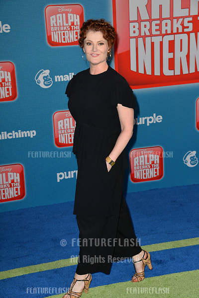 "LOS ANGELES, CA. November 05, 2018: Rebecca Wisocky at the world premiere of ""Ralph Breaks The Internet"" at the El Capitan Theatre.<br /> Picture: Paul Smith/Featureflash"