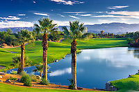 Pond at Desert Willow Golf Resort. Palm Desert, California