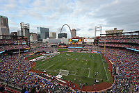 Busch Stadium  St Louis..Manchester City defeated Chelsea 4-3 in an international friendly at Busch Stadium, St Louis, Missouri.