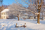 Winter at Marshland Farm in Quechee village, Hartford, VT, USA