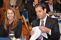 RIO DE JANEIRO, RJ, 23 AGOSTO 2012 - ELEICOES 2012-EDUARDO PAES-Patricia Amorim Presidente do Flamengo, participa de almoco com representantes da Associacao de Dirigentes de Empresas do Mercado Imobiliario (Ademi). No encontro, serao discutidas propostas para o setor, no Hotel Sheraton, no Leblon, na zona sul do Rio de Janeiro.(FOTO:MARCELO FONSECA / BRAZIL PHOTO PRESS).