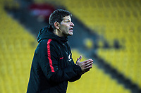 New Zealand coach Andreas Heraf during the international women's football match between the New Zealand Football Ferns and Japan at Westpac Stadium in Wellington, New Zealand on Sunday, 10 May 2018. Photo: Dave Lintott / lintottphoto.co.nz