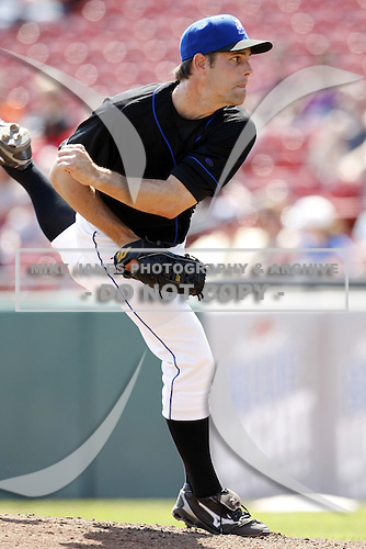 May 23, 2009:  Relief Pitcher Jon Switzer of the Buffalo Bisons, International League Triple-A affiliate of the New York Mets, delivers a pitch during a game at Coca-Cola Field in Buffalo, NY.  Photo by:  Mike Janes/Four Seam Images
