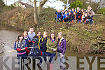 HELPING THE DUCKS: Mercy Mounthawk Transition Year students Annie O'Dowd, Jessica Touhy, Jason Conway, Stacey Conway, Fiona O'Halloran, Ciara Hennessy and Shannon Carey pictured with Cllr. Sammy Locke who along with other students cleaned up the river walk between Casement's Avenue and Brewery Road as part of their Eco Unesco Project yesterday (Wednesday).