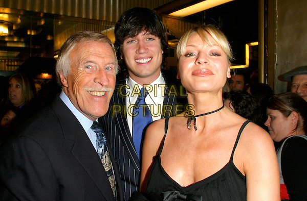 "BRUCE FORSYTHE, VERNON KAYE & TESS DALY.""Muderous Instincts, The Musical to Die For"".The Savoy Theatre London, .10th July 2004..portrait headshot kay daley.Ref: BR.www.capitalpictures.com.sales@capitalpictures.com.©Capital Pictures."
