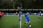 First-half action as Nelson (in blue) hosted Daisy Hill in a North West Counties League first division north fixture at Victoria Park. Founded in 1881, the home club were members of the Football League from 1921-31 and has played at their current ground, known as Little Wembley, since 1971. The visitors won this fixture 6-3, watched by an attendance of 78.
