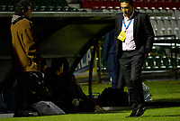 TUNJA -COLOMBIA, 07-07-2017: Diego Andres Corredor técnico de Patriotas FC gesticula durante partido contra Atletico Huila por la fecha 1 de la Liga Águila II 2017 realizado en el estadio La Independencia de Tunja. / Diego Andres Corredor coach of Patriotas FC gestures during match against Atletico Huila for the date 1 of Aguila League II 2017 played at La Independencia stadium in Tunja. Photo: VizzorImage / Javier Morales  / Cont