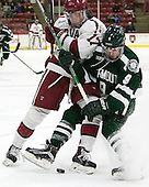 Sean Malone (Harvard - 17), Troy Crema (Dartmouth - 9) - The Harvard University Crimson defeated the Dartmouth College Big Green 5-2 to sweep their weekend series on Sunday, November 1, 2015, at Bright-Landry Hockey Center in Boston, Massachusetts. -