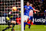 Mikel San Jose Dominguez of Athletic de Bilbao reacts as teammate Inaki Williams Arthuer scores the team's first goal during the La Liga 2018-19 match between Atletico de Madrid and Athletic de Bilbao at Wanda Metropolitano, on November 10 2018 in Madrid, Spain. Photo by Diego Gouto / Power Sport Images