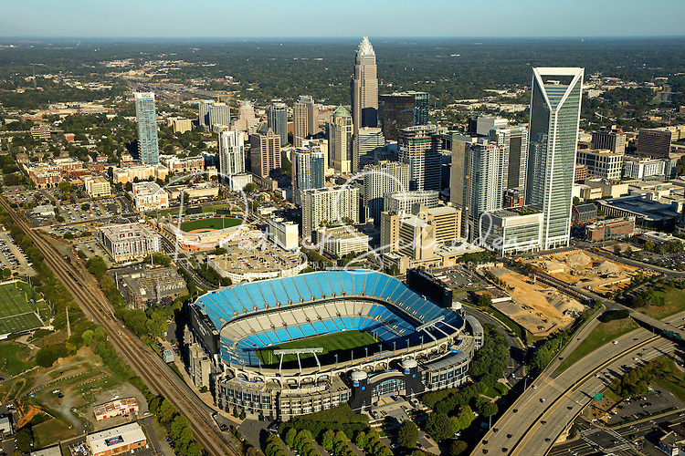 Aerial photography of the Charlotte, North Carolina ...