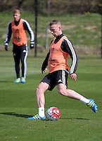Stephen Kingsley during the Swansea City FC training at Fairwood, Swansea, Wales, UK on Wednesday 04 May 2016