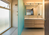 Skylark Residence, San Diego--detail of bathroom remodel. Jen Landau Prior, designer