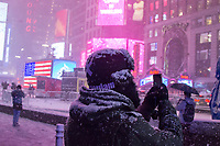 First snow of the year came strongly to the city of New York