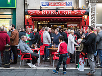 A busy bar on Cardiff high street ahead of the game<br /> <br /> Photographer Simon King/CameraSport<br /> <br /> International Rugby Union - 2017 Under Armour Series Autumn Internationals - Wales v Australia - Saturday 11th November 2017 - Principality Stadium - Cardiff<br /> <br /> World Copyright &copy; 2017 CameraSport. All rights reserved. 43 Linden Ave. Countesthorpe. Leicester. England. LE8 5PG - Tel: +44 (0) 116 277 4147 - admin@camerasport.com - www.camerasport.com