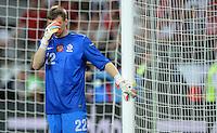 FUSSBALL  EUROPAMEISTERSCHAFT 2012   VORRUNDE Tschechien - Polen               16.06.2012 Torwart Przemyslaw Tyton (Polen) ist enttaeuscht